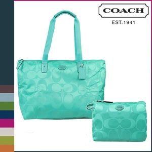 Coach Weekender Tote Travel Shoulder Bag Nylong NW